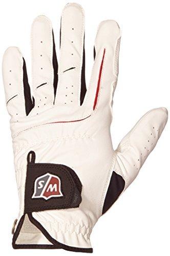 Wilson Staff Herren Golf Handschuh Grip Plus MLH, Weiß, M/L, WGJA00910ML