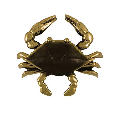 Blue Crab Door Knocker - Brass (Premium Size)