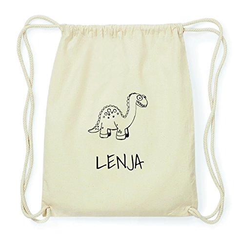 JOllipets LENJA Hipster Turnbeutel Tasche Rucksack aus Baumwolle Design: Dinosaurier Dino