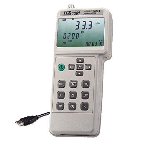 TES 1381K Conductivity & pH/ORP Meter