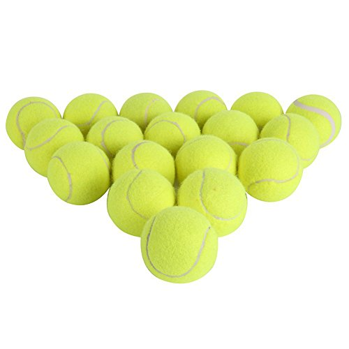 Yayoshow Pressureless Tennis Balls - A Set of 18 Balls with Mesh Carrying Bag Great For Lessons, Practice