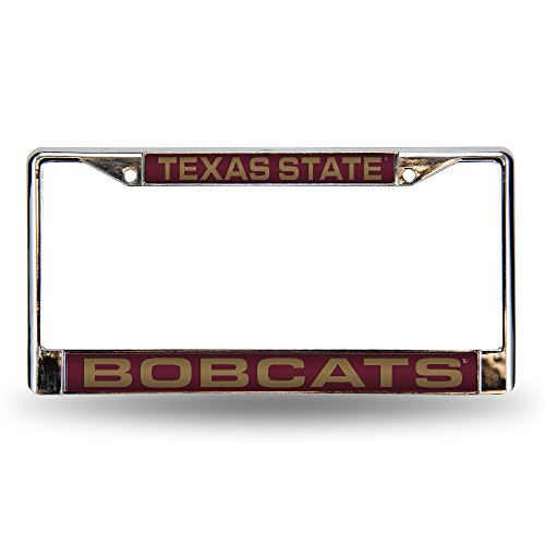 - NCAA Texas State Bobcats Laser Cut Inlaid Standard Chrome License Plate Frame