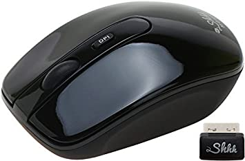 Black LONG7INES Silent USB Wireless Mouse 1600DPI USB Receiver Optical Computer Mouse