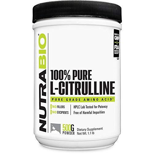 NutraBio L-Citrulline Powder - 500 Grams