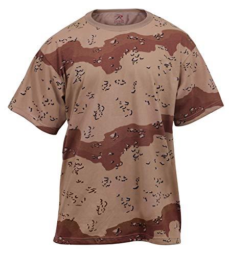 Rothco Camo T-Shirts, 6-Color Desert Camo, L