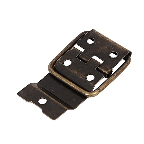 Box Case Retro Style Positioning Support Hinges Bronze Tone 37.5mmx16.5mm 30pcs