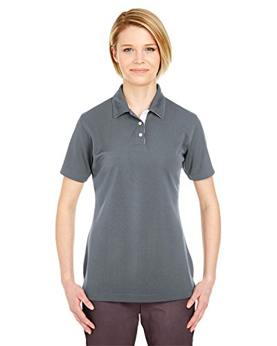 A Product of UltraClub Ladies' Platinum Performance Birdseye Polo with TempContr -