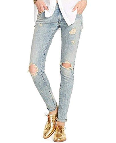 Denim & Accommodate Ralph Lauren Distressed Skinny Jeans, Bates Wash 28