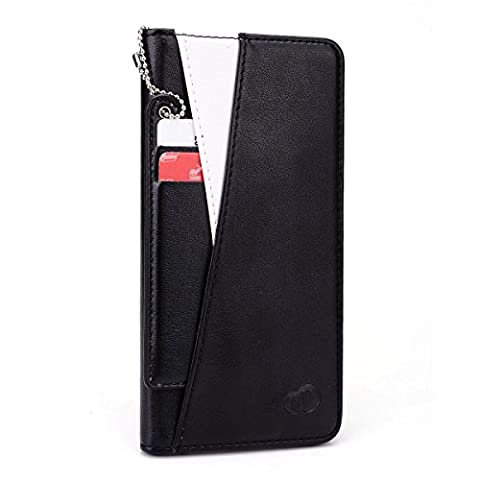 Kroo Flip Folio Wallet Case with I.D Tag Attachment for Apple iPhone 6 Plus - Non-Retail Packaging - (12 South Iphone 6 Plus Dock)