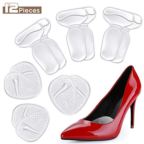 Metatarsal Pads Ball of Foot Cushions Pads, Forefoot Insert Insoles for High Heels Shoes, Pain Relief for Women and Men Self Sticking Silicone Gel 2