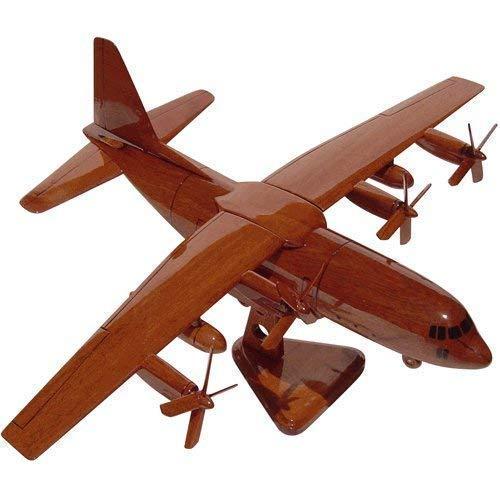 - C-130 Hercules Mahogany Wood Desktop Airplane Model