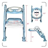 GrowthPic Toddler Toilet Seat with Step Stool