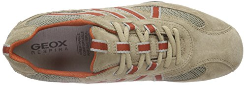 Geox Sand Top Sneakers Beige Snake Uomo hombre Beige Orangec0704 Low para rgw1rfq