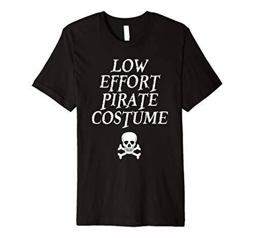 Pirate Night Skull Crossbones Costume Shirt for Lazy Dad Mom -