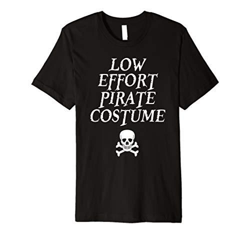 Pirate Night Skull Crossbones Costume Shirt for Lazy Dad Mom