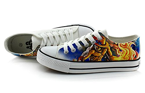 2 Ace Canvas Cut Cosplay D Sneakers Colourful One 2 Low Shoes Piece Picture Portgas Shoes 6TxwTYUa