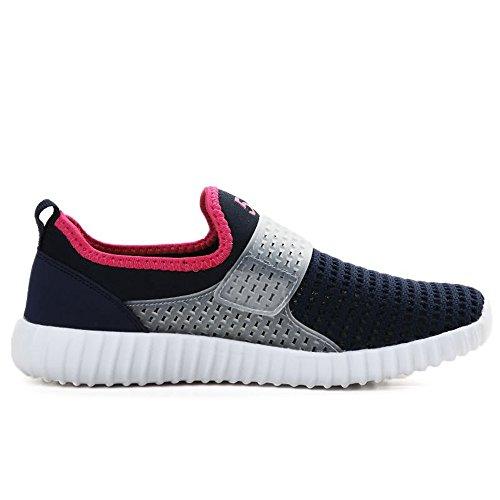 shoes e Blue tessuto donna Color da Deep Black uomo pink ginnastica piatto 38 con Xiaojuan in EU Dimensione Scarpe da da casual tacco 7xqBpwXd