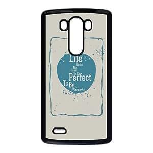 LG G3 Cell Phone Case Black quotes life perfect wonderful Uocdb