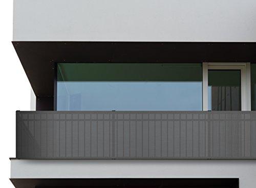 Oramics Balkonumspannung Sichtschutz für Balkon 500x90cm (Grau)