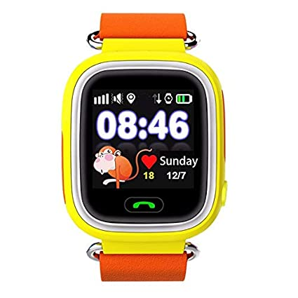 da44d989b25 Elepaio New Q90 GPS Phone Positioning Color Touch Screen Kids SmartWatch  (1.22 Inch, Orange): Amazon.in: Computers & Accessories