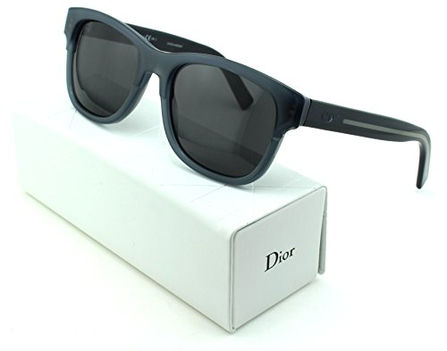 Dior Black Tie 196/S Square Unisex Sunglasses (Black Grey Frame, Dark Grey Lens - Glasses Dior Men