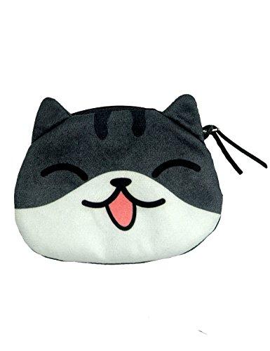 C&c Purse Zipper (POPUCT Cartoon Cute Cat Face Bag Zipper Case Coin Money Purse Wallet (C))