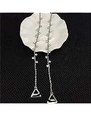 Lnrueg Dames Bh-bandjes Strass Glanzende Bh-schouderbanden Bh-vervangingsbandjes Onzichtbare Metalen Riem