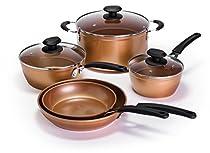 Ecolution EUCP-1208 Endure Nonstick Cookware, 8Piece Set, Copper