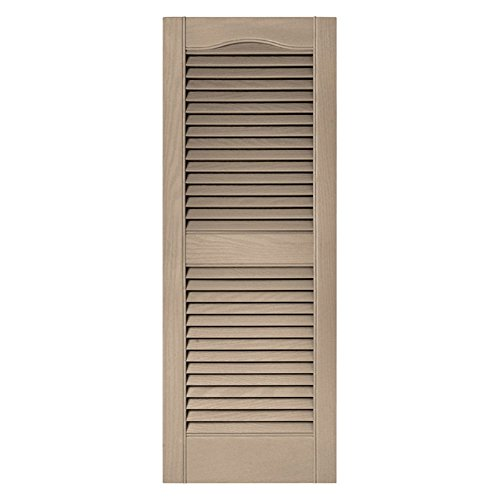 Wicker Louvered Shutter (15 in. x 60 in. Louvered Shutters Pair in #023)