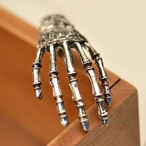 L-MEIQUN,Gothic Skeleton Hand Hairpin color:ARGENTO