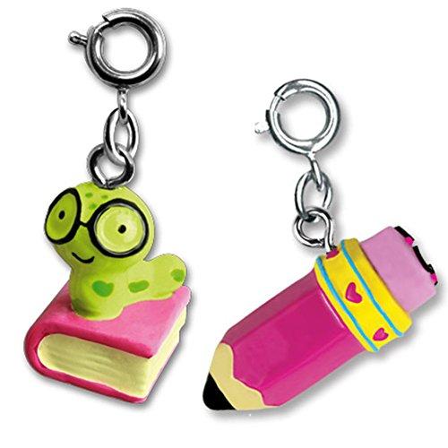 CHARM IT! Scholar Girl Bookworm & Pencil- Two Charm Add (Penmanship Set)