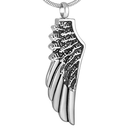 (Stainless Steel Pendant | Angel Wing Shape | Memorial Jewelry | Locket for Pendant Necklace (10 pcs Pendant only))