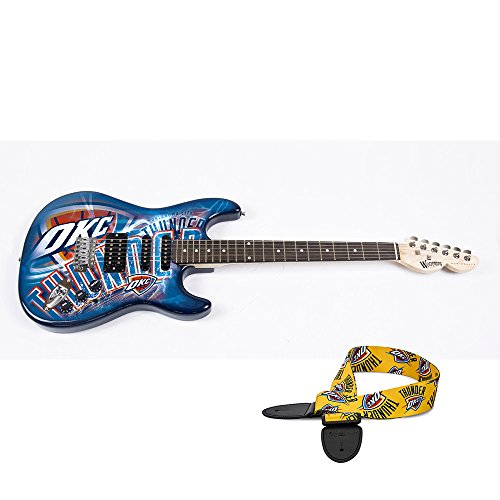 Oklahoma City Thunder NBA ''Northender'' Electric Guitar with Strap by Woodrow