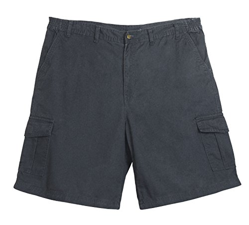 Full Blue Big Mens Side Elastic Twill Cargo Short (Grey 46) ()