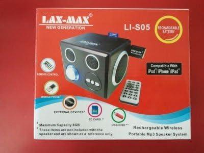 Amazon.com: Lax-Max Portable MP9 Speaker System: Home Audio & Theater