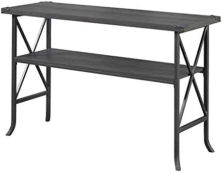 Convenience Concepts Brookline Console Table, Charcoal Slate Gray Frame