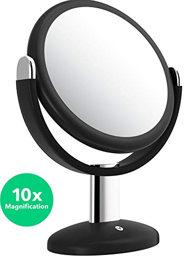 Vremi 10x Magnified Vanity Mirror - 7 Inch Round Makeup Cosmetic Mirror for Bathroom or Bedroom Table Top - Portable Double...