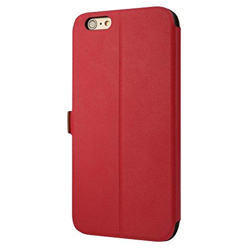 """Labato® Handytasche Hülle für Apple iPhone 6 Plus 5,5"""" TASCHE Euti Case Hülle iPhone 6 5.5 Zoll Schutzhülle Schale im Bookstyle mit Magnetverschluss EINFACH Stil in rosa Lbt-I6L-04R33"""