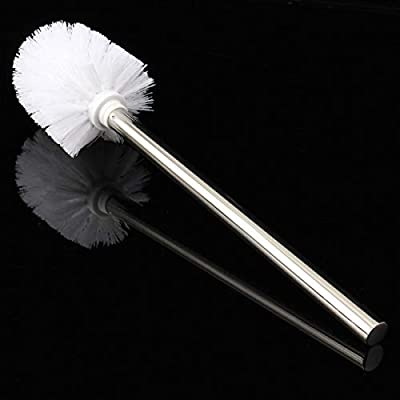 Stainless Steel WC Bathroom Cleaning Toilet Brush White Head Holders Cleaning Brushes - Hardware & Accessories Industrial Hardware - 1xBrush