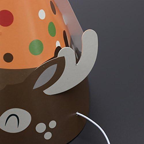 4pcs Children Animal Paper Cone Birthay Party Hat Animal Hairdress Decoration Deer Bear Fox Squirrel