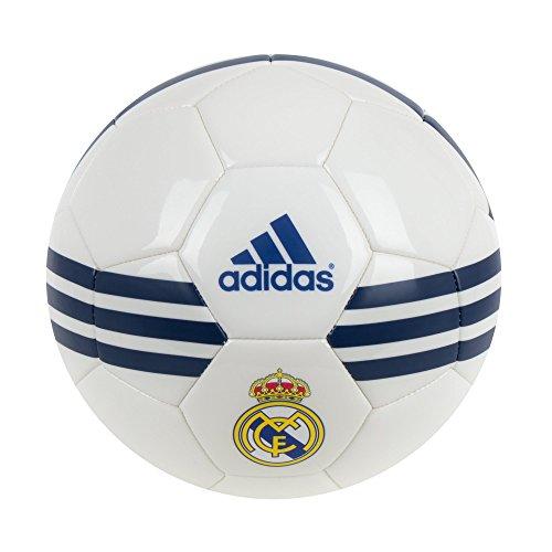 Adidas Performance Real Madrid Balón de fútbol, White/Ray Purple/Collegiate Royal