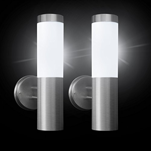 Pack de 2 farolas solares de pared SPV Lights para exteriores