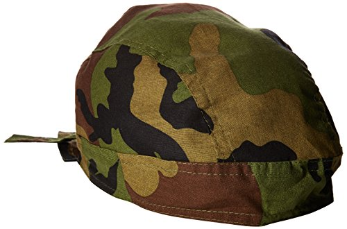 Headbands Woodland Camo - Zanheadgear Flydanna Bandanna, 100% Cotton, Woodland Camo