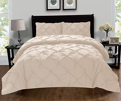 Cover Set Duvet Newport (Hemau Premium New Soft Luxury Super-Soft Coziest 1500 Thread Count Egyptian Quality 2-Piece Pintuck Design Set, (Insert Comforter Protector) Wrinkle-Free, Twin/Twin XL, Cream | Style 503196123)