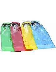 SSyang 4 opvouwbare sportwaterfleszakken, opvouwbare waterfles, herbruikbare plastic waterfles, opvouwbare waterfles, geschikt voor wandelen, fietsen en kamperen.