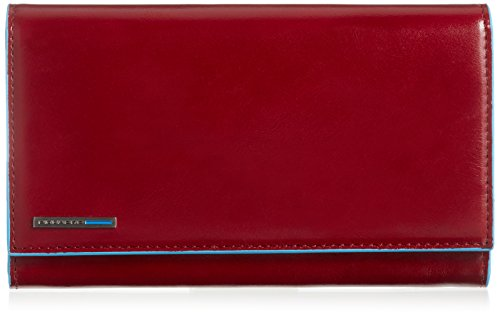 Piquadro Women's Wallet with Flap and Three Dividers with Document Holder, Red, One Size by Piquadro