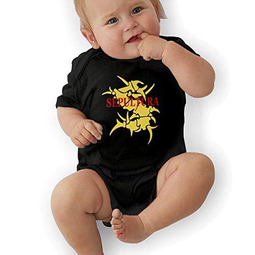 FAMURR Girls&Boys Kid Sepultura Logo Cotton Crew Neck Short Sleeve T-Shirts Top Black -
