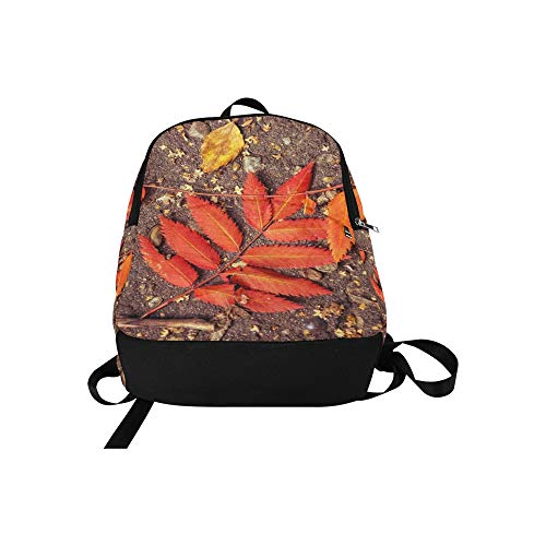 Yellow Mens School College Travel Orange Listopad Bag Sheet and Women Daypack Backpack Autumn Red Casual Leaves for f4qnxX