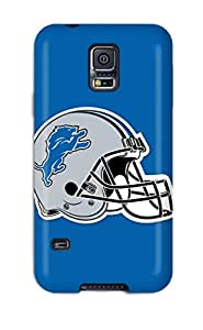 Quality KathyNYoung Case Cover With Detroit Lions Helmet Nice Appearance Compatible With Galaxy S5