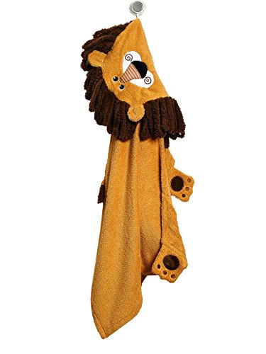 ebdd14728d5 Zoocchini – Toalla de baño con capucha para niños 100% algodón naranja  diseño de Travis